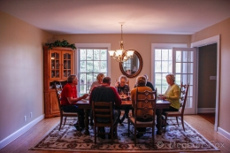 Parents table; Thanksgiving dinner
