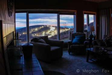 When you come home and this is the view from the living room, you really have to stop and take pictures before you can turn the lights on.