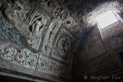 reliefs on the ceiling of a bathhouse.