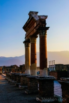 sunset and mountains and dramatic ancient pillars- what more could you ask for?