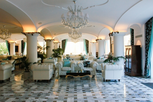 the foyer of our hotel. I cannot recommend La Favorita in Sorrento, Italy, enough.