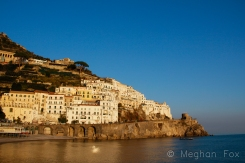 the golden hour living up to its name in Amalfi.