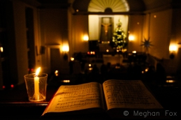 hymns on Christmas Eve and candlelight.