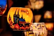 Köln on a candle.