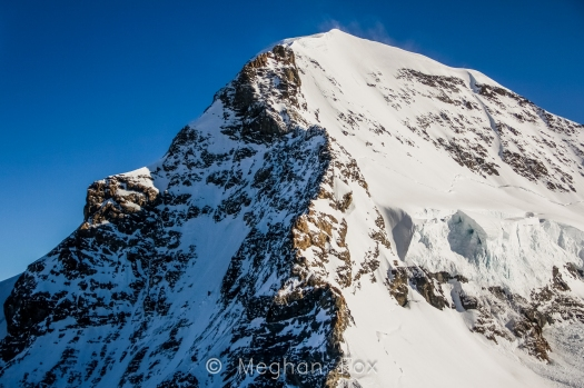 The highest peak of the highest mountain in Europe, the Jungfrau