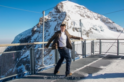 Blue Steel on top of the highest mountain in Europe