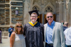 Alex with his dad and stepmom