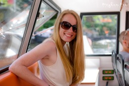casually modeling on a less-than-stellar boat tour